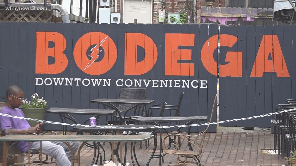 The bodega in downtown Greensboro hosts yoga classes on Sundays